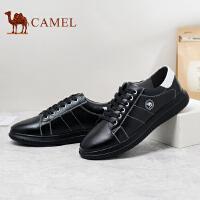 骆驼男鞋 新品时尚百搭休闲男皮鞋潮流系带低帮男鞋