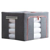加厚帆布衣服收纳箱被子布艺棉麻大号储物箱打包整理箱收纳袋