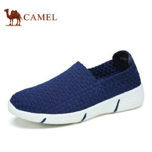 camel骆驼情侣款 时尚轻盈百搭情侣编织鞋 时尚休闲 春季新品