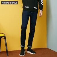 【年货节狂欢购,2件3折到手价:77.7】美特斯邦威牛仔裤男冬季新款弹力修身小脚长裤子潮流R