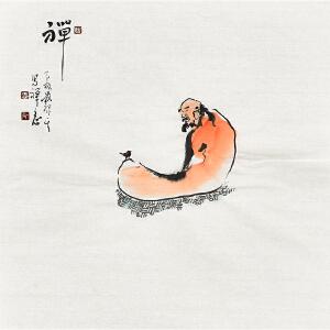 河南省书画家协会会员 康一生34 X 34CM花鸟画gh05496