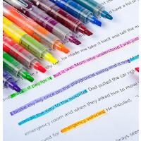 白雪彩色荧光笔 626直液式超大容量荧光笔 学生标注笔 彩色荧光笔