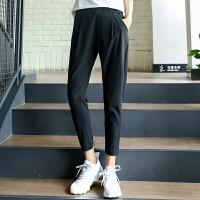 安踏女装运动裤 2017夏季新款舒适梭织休闲九分裤跑步裤16728532