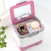 多功能桌面化妆品收纳箱化妆箱收纳盒箱整理收纳储物收纳整理箱