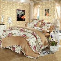 法兰绒床上用品欧式秋季珊瑚绒四件套床笠款加厚韩版床单四件套