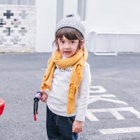 儿童围巾秋冬男童线脖套中宝宝保暖针织围脖