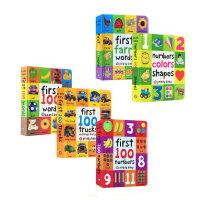 【顺丰包邮】英文进口原版5册合售 First 100 Words/First Farm Words/First 100 Numbers 儿童启蒙认知纸板书 单词数字动物认知书 亲子读物0-3-6岁