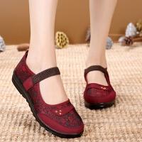 圆头妈妈老北京布鞋中老年人女鞋老人平跟奶奶单鞋老太太秋鞋