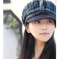 韩版时尚女帽毛呢显脸小贝雷帽 潮流八角帽画家帽小沿帽时装帽
