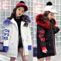 女童羽绒服儿童中长款冬装外套