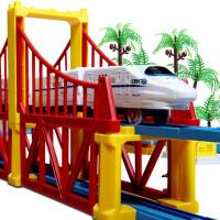 儿童拼搭小火车玩具电动轨道车和谐号高铁双层男孩2-3-6岁