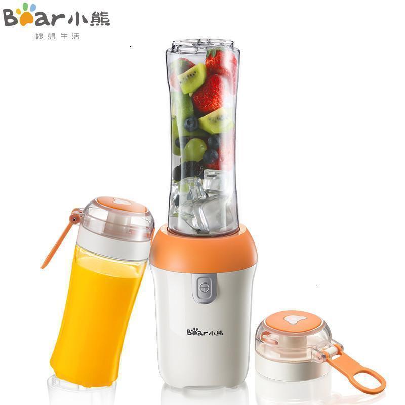 小熊(Bear)便携式榨汁机 迷你家用全自动料理机榨汁杯 LLJ-D05J1便携式双杯  304不锈钢刀头 食品级材质