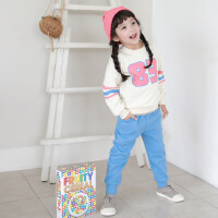 时尚数字印花卫衣套装童装中小童套装秋冬季童套装