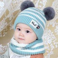 宝宝帽子秋冬季儿童毛线帽婴儿帽可爱公主男女孩