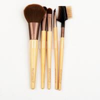 竹柄化妆刷5件套 彩妆刷 带刷包