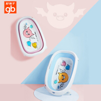 gb好孩子婴儿洗澡盆宝宝折叠浴盆可坐躺新生儿儿童大号加厚泡澡盆-