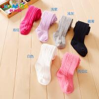 咔米嗒kamida儿童加厚打底裤白色秋款冬季打底袜保暖纯色百搭袜子