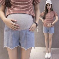2019夏季新款韩版破洞托腹裤薄款外穿孕妇牛仔短裤孕妇夏装孕妇裤