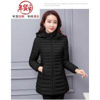 棉衣服女中�L2018新款冬季外套�n版��松加肥加大反季�p薄羽�q棉�\