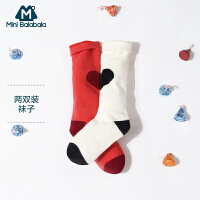 【129选3件】迷你巴拉巴拉中筒袜女童袜子秋季宝宝透气小学生袜子两双装