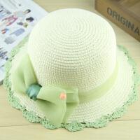 儿童遮阳帽宝宝防晒沙滩帽户外出游女童草帽太阳帽潮