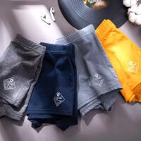都市丽人4条装时尚型男质感细腻亲肤吸汗透气中腰平角组合男士舒适内裤ZK8A35