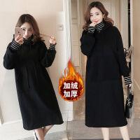 胖mm加绒加厚卫衣女冬季韩版大码女装200斤中长款外套学生宽松潮 1830 3