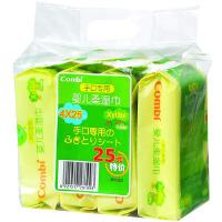 【当当自营】Combi 康贝 手口专用婴儿柔湿巾湿纸巾 25片*4