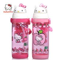 正品凯蒂猫KT吸管杯儿童卡通吸管水壶宝宝吸管水杯3683