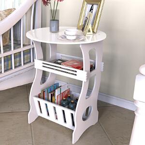 茶几 现代简约落地咖啡杂志小圆桌塑料客厅置物架卧室收纳储物架子满额减限时抢家具用品