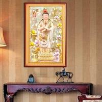 客厅玄关竖版佛像菩萨观音砖石画十字绣家和富贵钻石画满钻点钻画