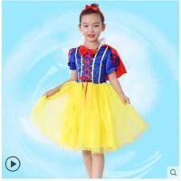 儿童白雪公主裙女童短袖生日礼服迪士尼冰雪奇缘演出服衣服 儿童服装支持礼品卡支付