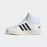 【满199减20,满399减40】幸运叶子 Adidas/阿迪达斯童鞋2021春季新款高帮运动鞋时尚小白鞋舒适透气轻便防