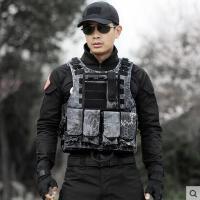 军迷户外作战马甲防刺服防弹衣黑色蟒纹战术背心男CS装备