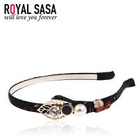 皇家莎莎RoyalSaSa韩版细发箍头箍韩国水钻简约甜美发卡压发头饰发饰发带饰品HFS509405