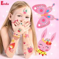 Endu儿童纹身贴  指甲贴纸贴画宝宝粘贴纸女孩防水新年礼物幼儿园生日礼物