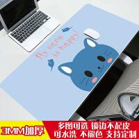游戏动漫鼠标垫超大号加厚可爱女生小号笔记本电脑键盘桌垫定制(1)