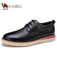 camel 骆驼男鞋 秋季新款低帮鞋鞋牛皮系带防滑日常休闲皮鞋男