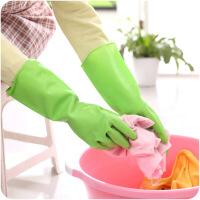 懿聚堂 薄款家用家务乳胶手套 厨房防水洗碗手套浴室洗衣服橡胶手套