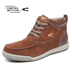 Camel Active/骆驼动感 休闲高帮棉鞋英伦潮鞋男靴真皮日常休闲鞋