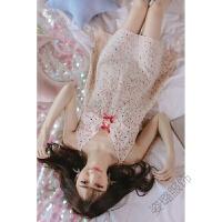 性感睡衣女夏季冰丝韩版雪纺吊带中裙甜美可爱清新睡裙雪纺夏天睡裙 图片色