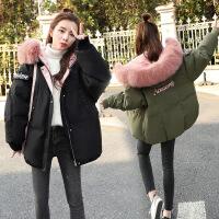 2018冬季新款女装羽绒外套短款小棉袄学生韩版时尚加厚棉衣潮 军绿色(偏大一码) S