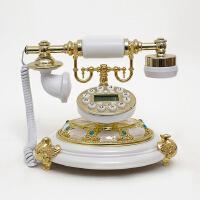 至臻新款欧式复古电话座机仿古电话立体雕花老式古董电话带来显