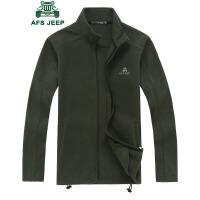战地吉普AFS JEEP抓绒夹克 男士休闲夹克衫 新款立领夹克休闲外套