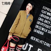原宿冬季女短款韩版宽松bf学生棒球外套ulzzang棉衣2018新款