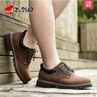 Z.Suo/走索男鞋春季休闲皮鞋男士休闲鞋潮流低帮鞋英伦工装鞋男ZS18507