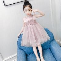 女童连衣裙夏装洋气童装2018新款儿童蓬蓬网纱裙子女孩纱裙公主裙