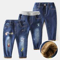 儿童牛仔裤宝宝棉裤冬装童装男童裤子长裤
