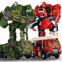 变形玩具金刚4探长 消防车声光版大号汽车机器人模型男孩玩具礼物JJ119