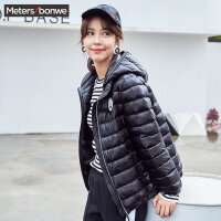 美特斯邦威bf羽绒服女士冬装轻薄短款运动舒适外套韩版学生潮流